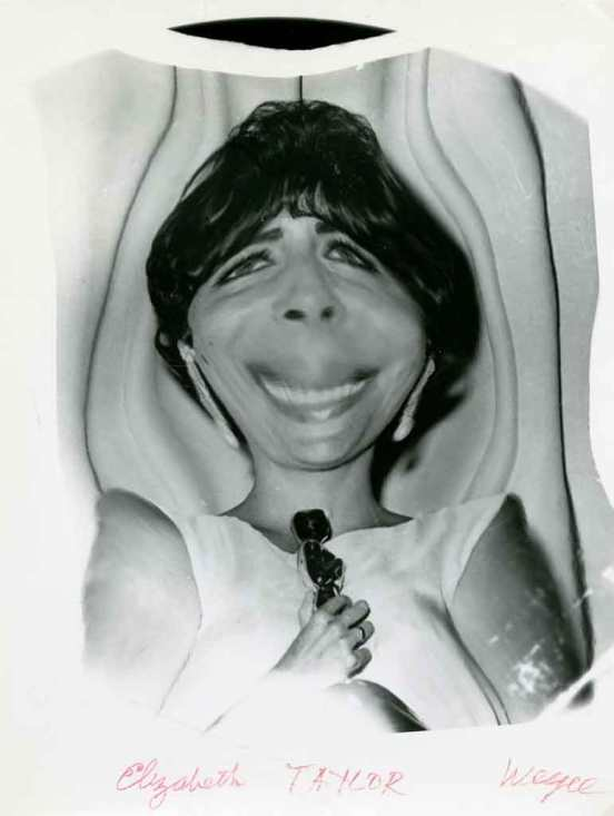 1950_weegee-Liz-taylor-distort_oscar_c